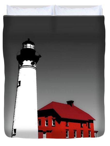 Au Sable Point Light Sc Duvet Cover by Tim Richards