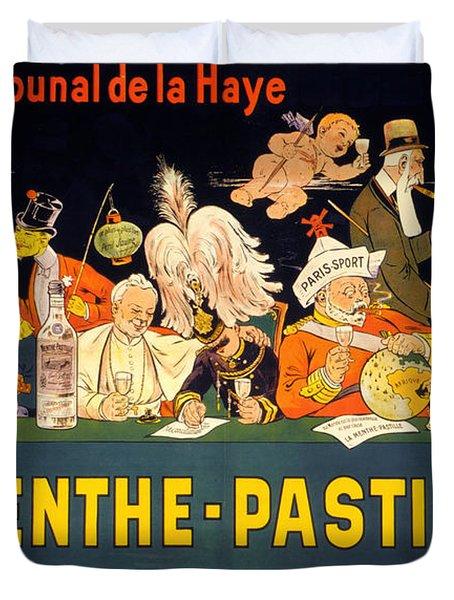 Au Tribunal De La Haye La Menthe Pastille Vintage Duvet Cover