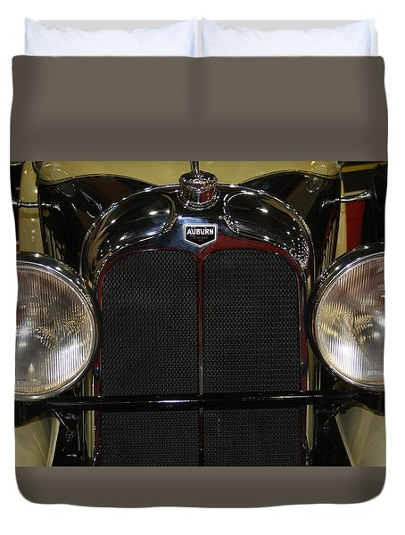 Duvet Cover featuring the photograph Auburn 8-88 Boat Tail Speedster by Vadim Levin