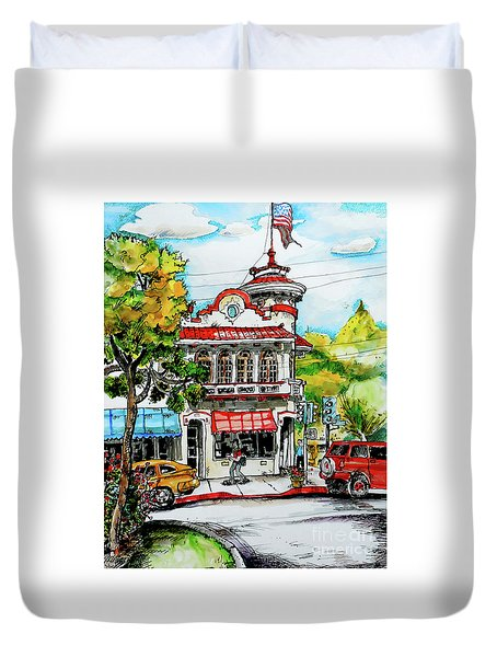Auburn Historical Duvet Cover by Terry Banderas