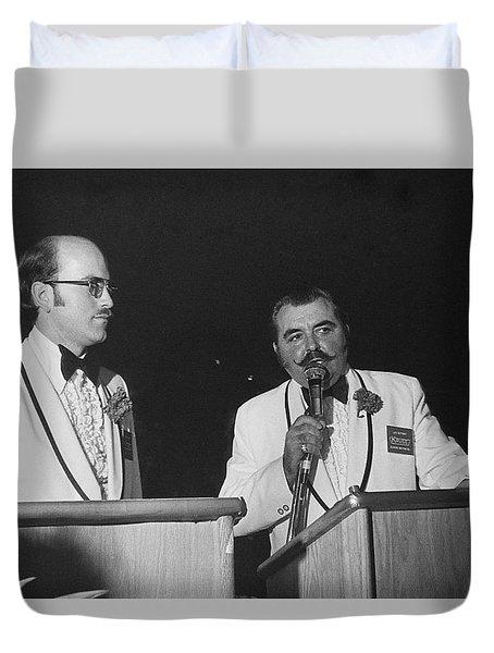 Auctioneer Dennis Kruse And Leo Gephart Scottsdale Arizona 1973-2016 Duvet Cover