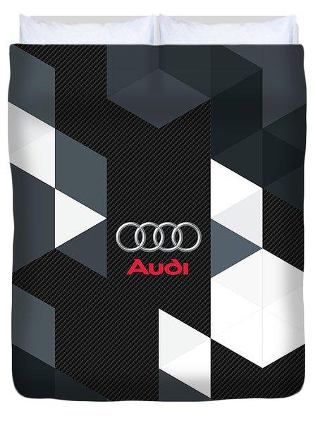 Audi Carbon Fractals Duvet Cover