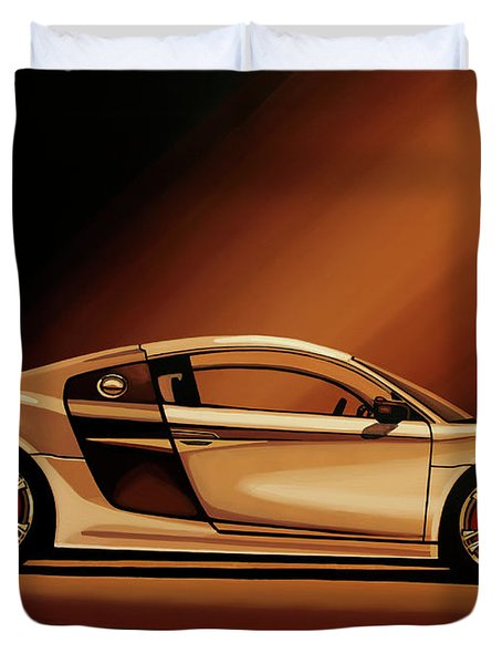 Audi R8 2007 Painting Duvet Cover