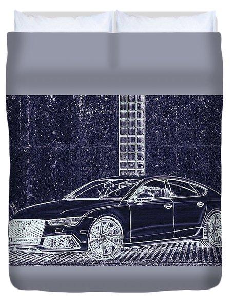 Audi Rs7 Vossen  Duvet Cover by PixBreak Art