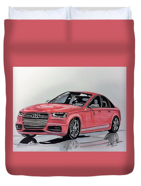 Audi S4 Duvet Cover by Kevin F Heuman