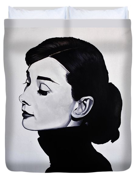 Audrey Hepburn 1 Duvet Cover by Brian Broadway