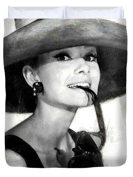 Audrey Hepburn 2 Duvet Cover