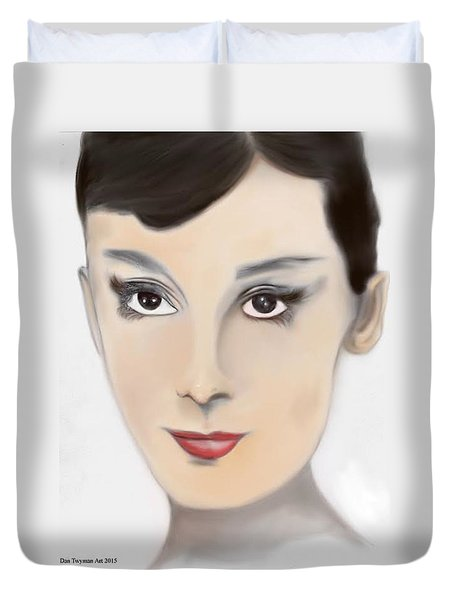 Audrey Hepburn Color Duvet Cover