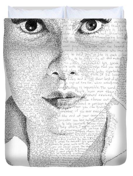 Audrey Hepburn In Her Own Words Duvet Cover