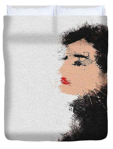 Audrey Hepburn Duvet Cover by Miranda Sether