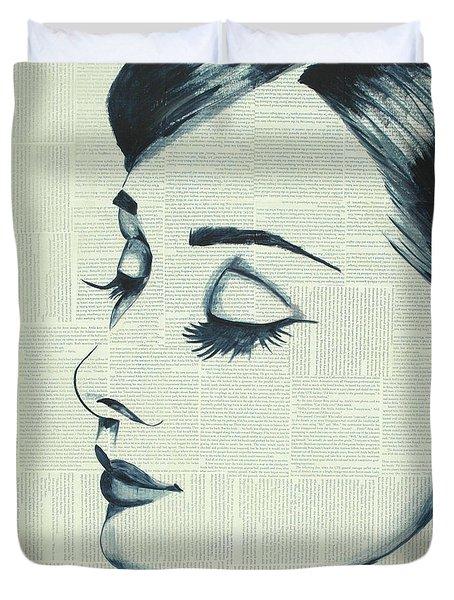 Audrey Hepburn Duvet Cover by Monikas Art