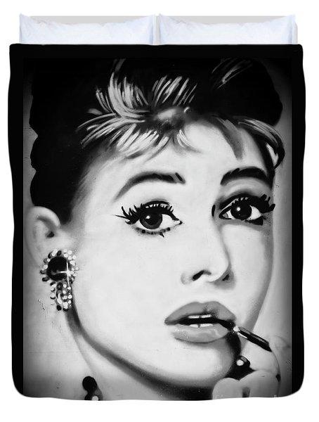Audrey Hepburn Mural  Duvet Cover