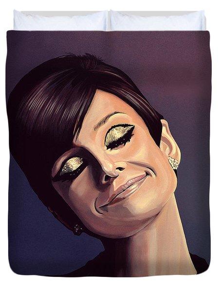 Audrey Hepburn Painting Duvet Cover