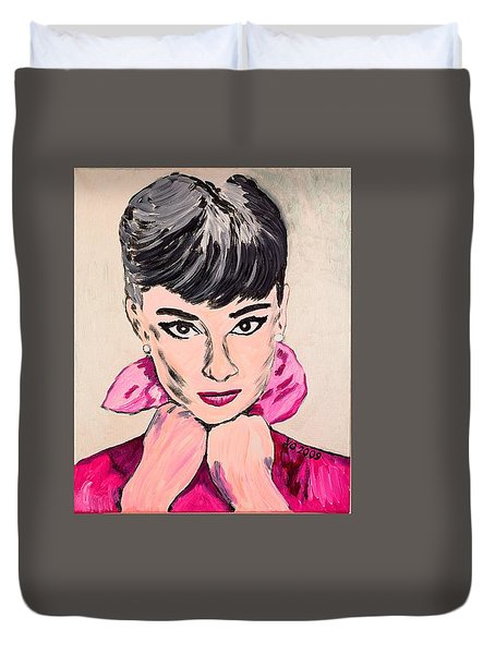 Audrey Hepburn Duvet Cover by Valerie Ornstein