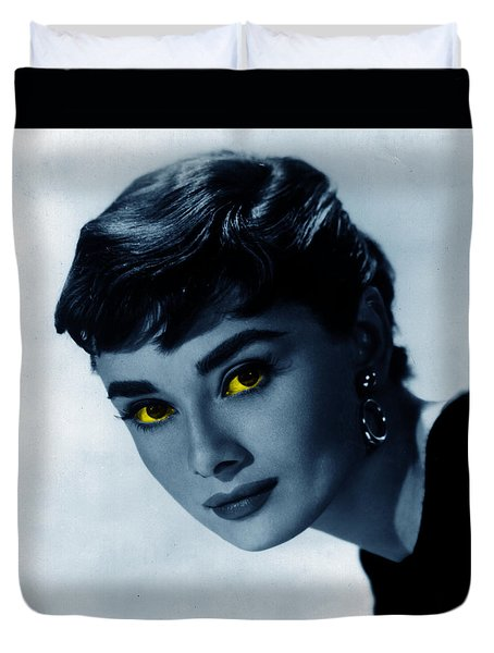 Audrey In Blue Duvet Cover
