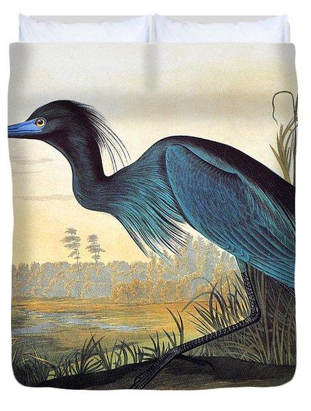 Audubon: Little Blue Heron Duvet Cover