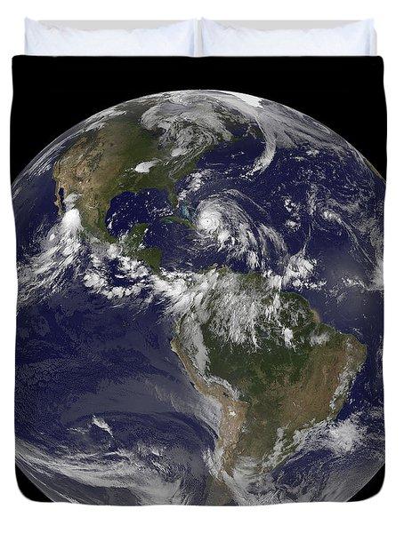 August 24, 2011 - Satellite View Duvet Cover