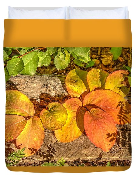 August Leaves Duvet Cover by Jim Sauchyn