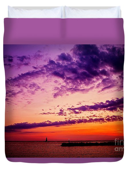 Duvet Cover featuring the photograph August Night by Randall  Cogle