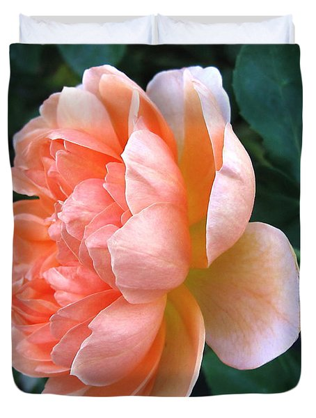 Duvet Cover featuring the photograph August Rose 09 by Joyce Dickens