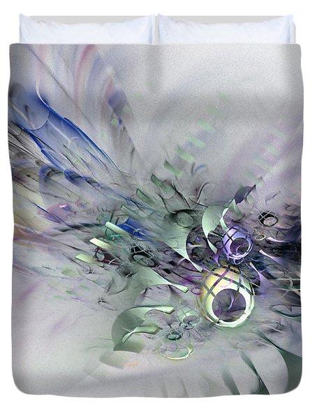 August Silk - Fractal Art Duvet Cover