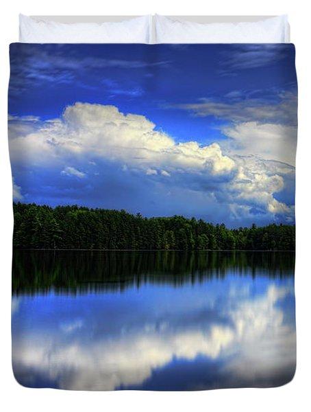 August Summertime On Buck Lake Duvet Cover