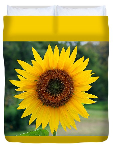 August Sunflower Duvet Cover by Jeff Severson