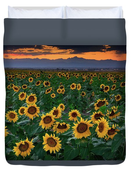 August Sunflowers In Colorado Duvet Cover