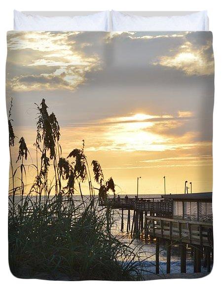 August Sunrise On The Obx  Duvet Cover