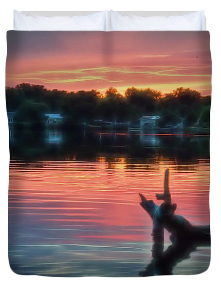 August Sunset Glow Duvet Cover