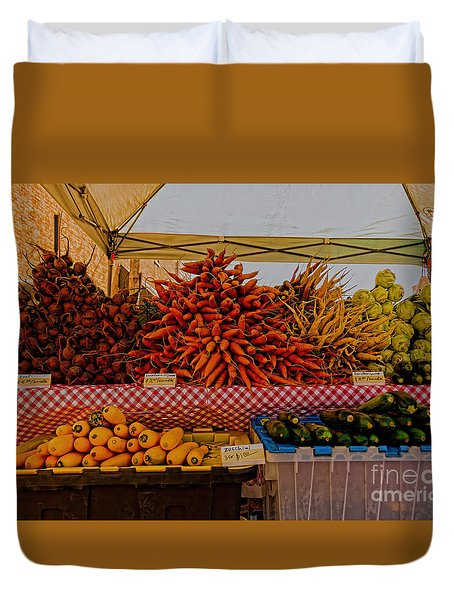 August Vegetables Duvet Cover