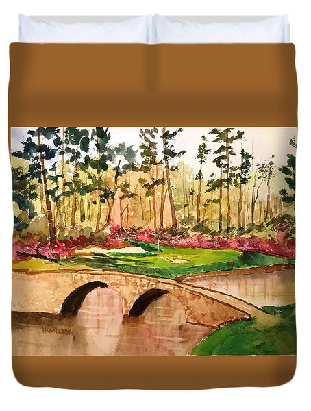Augusta - 12th Hole Duvet Cover