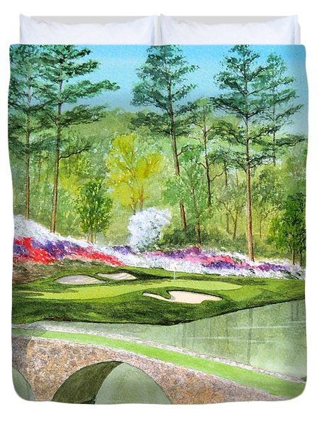 Augusta National Golf Course 12th Hole Duvet Cover