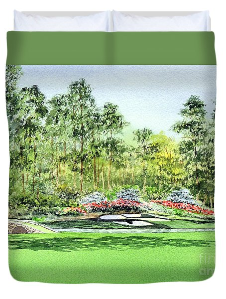 Augusta National Golf Course Duvet Cover by Bill Holkham