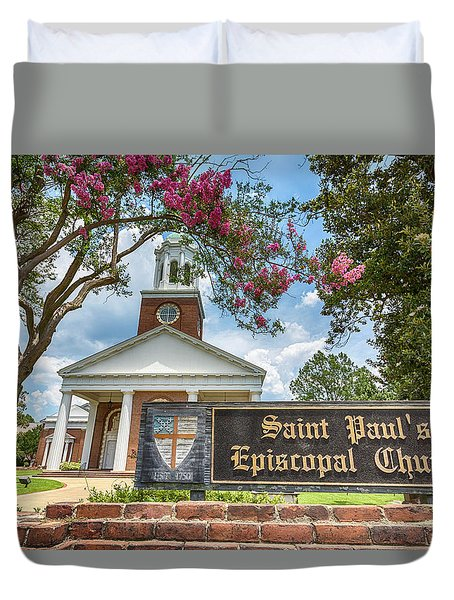 Augusta - Saint Paul's Episcopal  Duvet Cover by Stephen Stookey