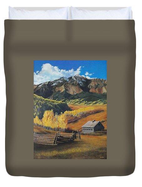 Autumn Nostalgia Wilson Peak Colorado Duvet Cover by Anastasia Savage Ealy