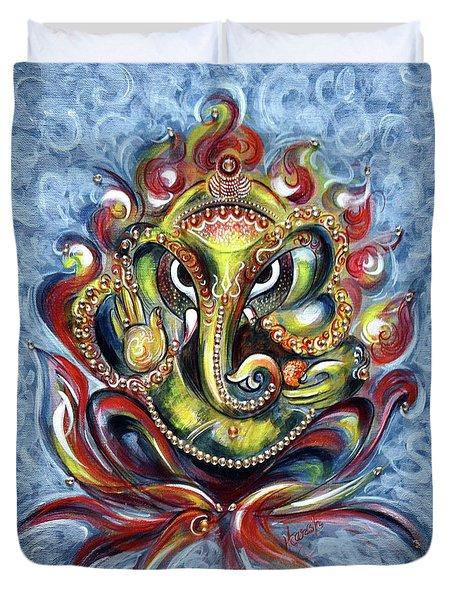 Aum Ganesha Duvet Cover