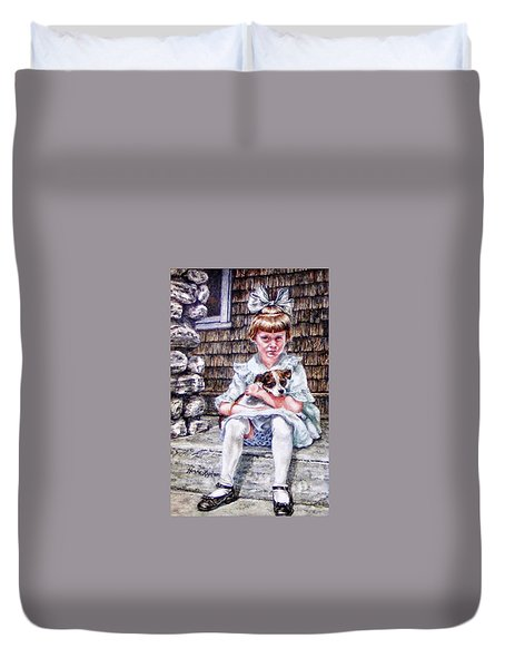 Aunt Eve 1919, Finders Keepers Duvet Cover