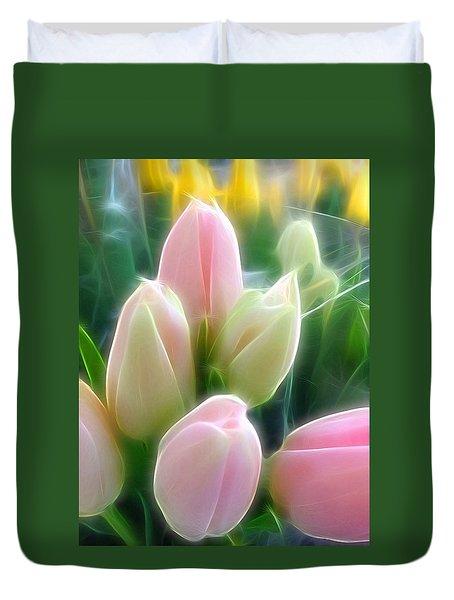 Aura Of Tulip Duvet Cover