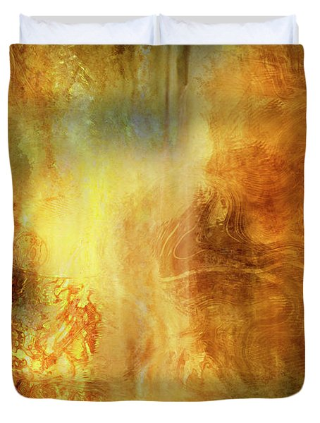 Auric Dawn - Abstract Art Duvet Cover