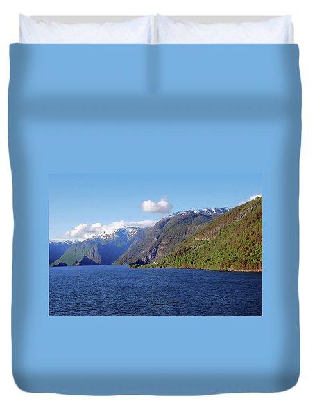 Aurlandsfjord Duvet Cover