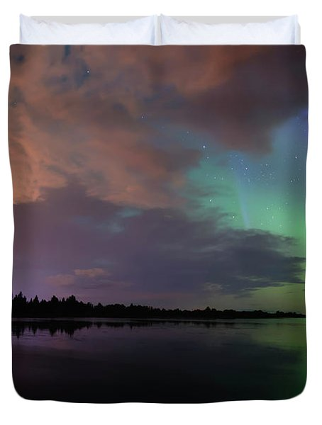 Aurora And Storm Clouds Duvet Cover