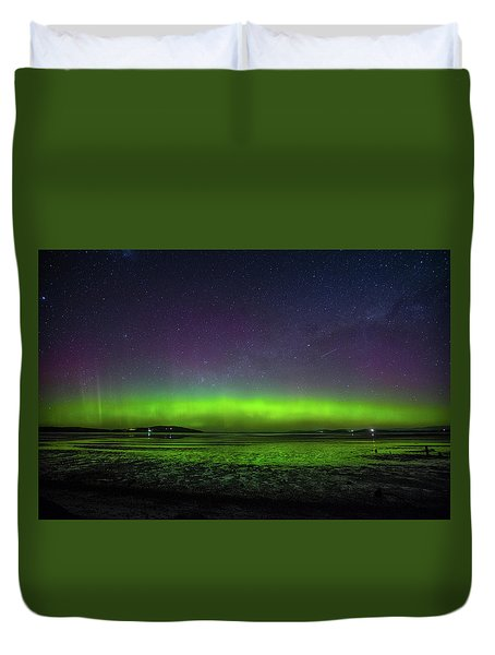 Duvet Cover featuring the photograph Aurora Australia by Odille Esmonde-Morgan