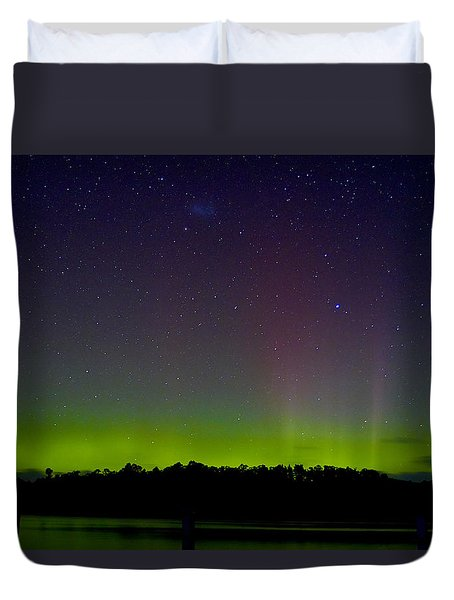 Aurora Australia Trial Bay Tasmania 19 March 2015 Duvet Cover by Odille Esmonde-Morgan