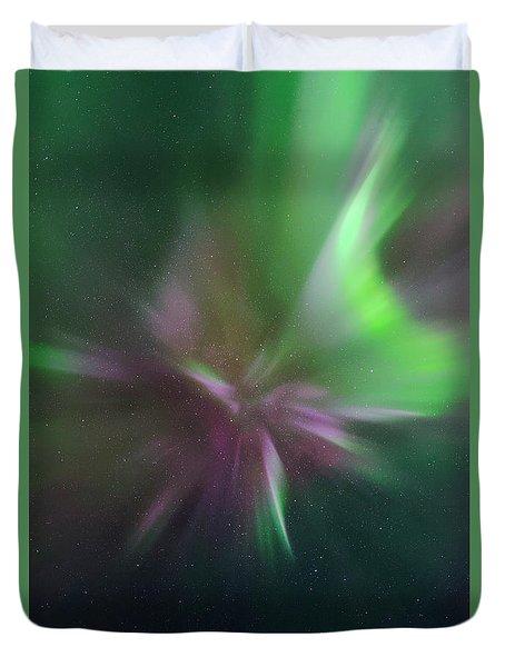 Aurora Borealis Corona Duvet Cover