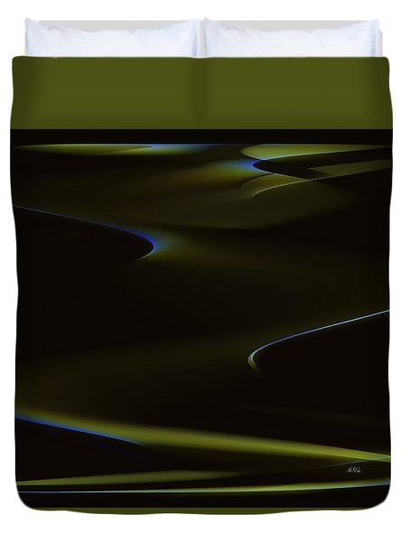 Aurora Borealis Over The Sand Dunes Duvet Cover by Angela A Stanton