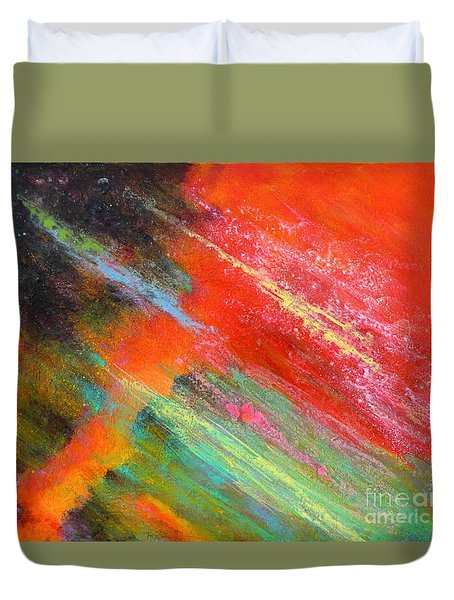 Fantasies In Space Painting Series. Title. Aurora De Fiero. Duvet Cover