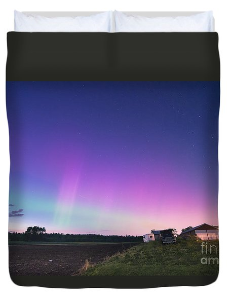 Aurora Energized Pepper Fields Duvet Cover by Patrick Fennell