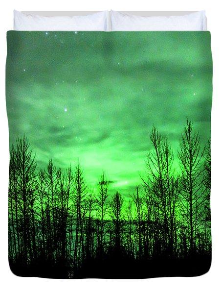Aurora In The Clouds Duvet Cover