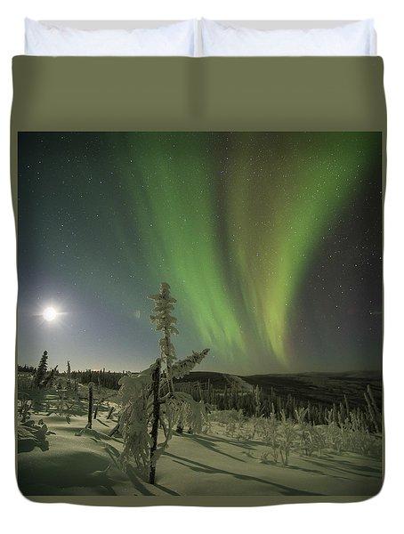 Aurora In The Hoar Frost Duvet Cover